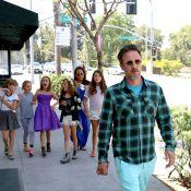 David Arquette, jeune papa relax avec Courteney Cox pour les 10 ans de leur Coco
