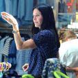 Courteney Cox et son ex-mari David Arquette font du shopping dans les rues de Los Angeles, le 12 juin 2014.