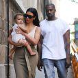 Kim Kardashian, Kanye West et leur fille North quittent le Children's Museum Of Manhattan. New York, le 15 juin 2014.