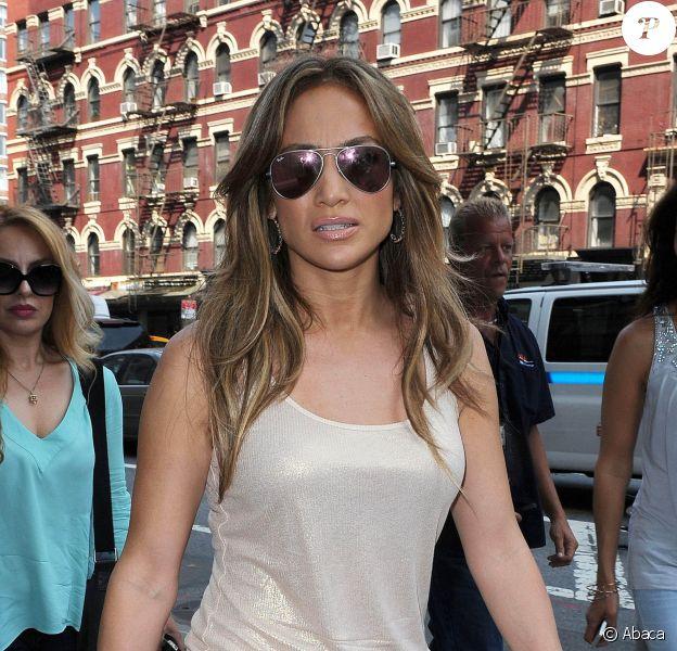 Jennifer Lopez dans les rues de New York, le 17 juin 2014.