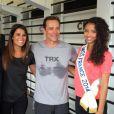 Karine Ferri, Flora Coquerel, Randy, et Franck, président CGM Sport Club, le 17 juin 2014