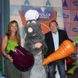 Nathalie Marquay et son mari Jean-Pierre Pernaut assistent en avant-première à l'inauguration de la nouvelle attraction Ratatouille, à Disneyland Paris, à Marne-la-Vallée, le 21 juin 2014.