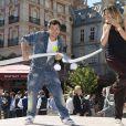 Michaël Youn et sa femme Isabelle Funaro assistent en avant-première à l'inauguration de la nouvelle attraction Ratatouille, à Disneyland Paris, à Marne-la-Vallée, le 21 juin 2014.