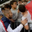 Karim Benzema après le match entre le Paraguay et la France à l'Allianz Riviera de Nice, le 1er juin 2014
