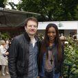 Samuel Le Bihan et sa femme Daniela à Roland Garros le 10 juin 2012