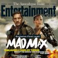 Charlize Theron et Tom Hardy en couverture d'Entertainment Weekly pour Mad Max : Fury Road.