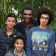 Marcel Desailly et ses enfants à Roland-Garros à Paris, le 28 mai 2014.