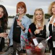 Sofia Essaidi, Fauve Hautot, Nathalie Dessay, Corinne Touzet prennent la pose pour les vins Bordeaux Rosés durant La Fête Du Vin 2014 à Bordeaux, le 28 juin 2014.