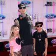 """Travis Barker sur les tapis rouge des """"BET Awards"""" à Los Angeles le 29 juin 2014."""
