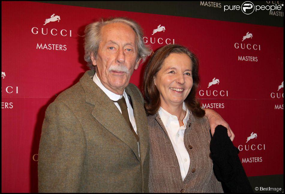 Jean Rochefort et sa femme Françoise aux Gucci Masters Jumping International à Villepinte le 5 décembre 2010