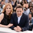 Jessica Chastain et James McAvoy lors du photocall du film The Disappearance Of Eleanor Rigby au Festival de Cannes le 18 mai 2014