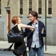Jessica Chastain et James McAvoy sur le tournage du film ''The Disappearance of Eleanor Rigby'' à New York le 23 août 2012