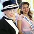 Portrait - Miss Prestige National 2013 Auline Grac et Geneviève de Fontenay. Le 10 janvier 2013.