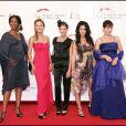 Plus belle la vie - Nadège Beausson-Diagne, Dounia Coesens, Elodie Varlet, Fabienne Carat et Cécilia Hornus - Festival de Télévision de Monte-Carlo en 2010.