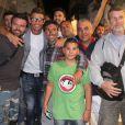 Le footballeur Cristiano Ronaldo en vacances avec des amis à Mykonos, le 3 juillet 2014.