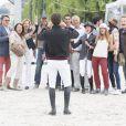 Guillaume Canet, Virginie Coupérie-Eiffel, Jessica Springsteen, Charles Berling - Paris Eiffel Jumping, présenté par Gucci, au Champ de Mars à Paris. Le 4 juillet 2014