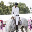 Al Thani, Ali BIn Khalid - Paris Eiffel Jumping, présenté par Gucci, au Champ de Mars à Paris. Le 4 juillet 2014