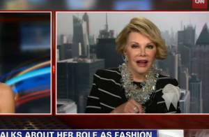 Joan Rivers (Fashion Police) : Agacée, elle se fait la malle en direct a la télé