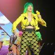 """Katy Perry en concert à Belfast dans le cadre de sa tournée """"Prismatic Tour"""". Le 7 mai 2014."""