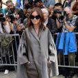 Miroslava Duma arrive au musée Rodin pour assister au défilé haute couture Christian Dior automne-hiver 2014-15. Paris, le 7 juillet 2014.
