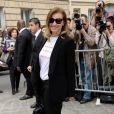 Valerie Trierweiler arrive au musée Rodin pour assister au défilé haute couture Christian Dior automne-hiver 2014-15. Paris, le 7 juillet 2014.