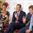 """Gemma Cairney - Le prince William et le prince Harry participent à une réunion des """"Queen's Young Global leaders"""" et enregistrent une vidéo au Buckingham Palace à Londres, le 9 juillet 2014.  9th July, 2014: The Duke of Cambridge and Prince Harry, on behalf of The Queen, launched The Queen's Young Leaders Programme at Buckingham Palace.09/07/2014 - Londres"""