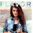 """""""Alyson Le Borges, l'autre fille Delon"""", cover girl du magazine Flavor, mai-juin 2013."""