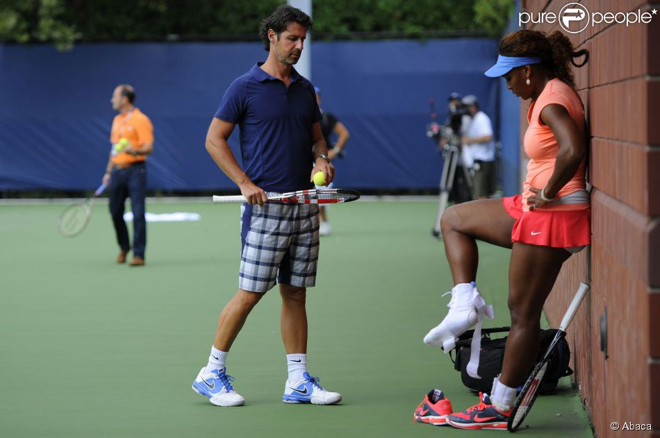 Serena Williams et Patrick Mouratoglou Serena Williams et Son Coach