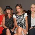 Pauline Lefèvre, Axelle Laffont, Isabelle Funaro et Melita Toscan du Plantier assistent au défilé haute couture Zuhair Murad automne-hiver 2014-2015 au Palais des Beaux-Arts. Paris, le 10 juillet 2014.