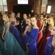Coulisses du défilé haute couture Zuhair Murad automne-hiver 2014-2015 au Palais des Beaux Arts. Paris, le 10 juillet 2014.