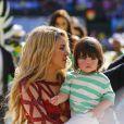 La chanteuse Shakira et son fils Milan - La chanteuse Shakira, son compagnon Gerard Piqué et leur fils Milan lors de la finale de la coupe du monde de la FIFA 2014 Allemagne-Argentine à Rio de Janeiro, le 13 juillet 2014.