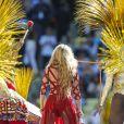 La chanteuse Shakira - La chanteuse Shakira, son compagnon Gerard Piqué et leur fils Milan lors de la finale de la coupe du monde de la FIFA 2014 Allemagne-Argentine à Rio de Janeiro, le 13 juillet 2014.13/07/2014 - Rio de Janeiro