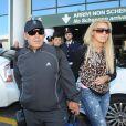 Diego Armando Maradona et Rocio Oliva à Milan, le 17 octobre 2013.