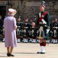 La reine Elizabeth II au Mémorial de guerre d'Edimbourg le 3 juillet 2014