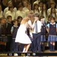 """""""Céline Dion a chanté avec 300 enfants pour la Fondation Sainte-Justine à la Maison symphonique de Montréal, le 16 juillet 2014."""""""