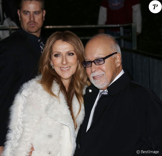Céline Dion et son mari René Angélil à Paris le 13 novembre 2013.