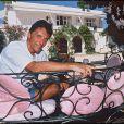 Sacha Distel à Saint-Troprez, le 13 août 1996.