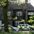 Les autorités au domicile de Peaches Geldof où le corps de la jeune femme vient d'être retrouvé par son époux Thomas Cohen, à Wrotham dans le Kent, le 7 avril 2014.