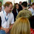 Le prince William, Kate Middleton et le prince Harry le 28 juillet 2014 aux XXe Jeux du Commonwealth, à Glasgow.