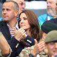 Kate Middleton dans les gradins d'Hampden Park lors des XXe Jeux du Commonwealth à Glasgow, le 29 juillet 2014.
