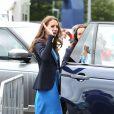 Kate Middleton repart après avoir regardé des épreuves d'athlétisme au stade Hampden Park lors des XXe Jeux du Commonwealth à Glasgow, le 29 juillet 2014.