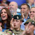 Kate Middleton et le prince William à Hampden Park pour des épreuves d'athlétisme des Jeux du Commonwealth, le 29 juillet 2014 à Glasgow.