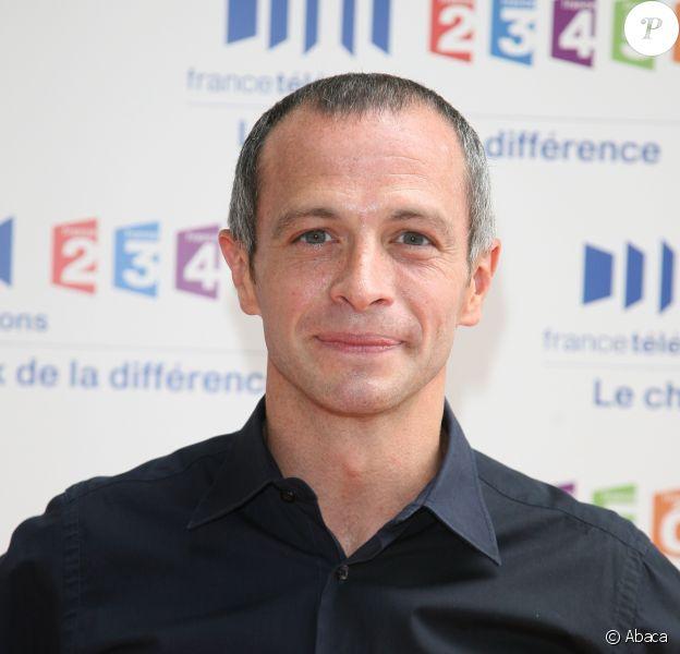 Samuel Etienne à la conférence de presse de France Télévisions