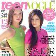 Kendall et Kylie Jenner en couverture du magazine Teen Vogue. Mars 2012.