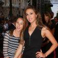 """Scarlet Rose Stallone et sa soeur Sophia Rose Stallone - Avant-première du film """"Expendables 3"""" à l'UGC Normandie à Paris, le 7 août 2014."""
