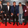 """Kellan Lutz, Jason Statham, Sylvester Stallone, Antonio Banderas, Wesley Snipes - Avant-première du film """"Expendables 3"""" à l'UGC Normandie à Paris, le 7 août 2014."""