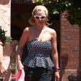 Britney Spears va déjeuner dans un restaurant de Thousand Oaks, le 13 août 2014.