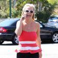 Britney Spears et son petit ami David Lucado vont déjeuner au restaurant à Agoura Hills, le 11 août 2014.