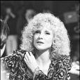 Sylvie Vartan sur le plateau de l'émission de TF1 Numéro 1 à Omar Sharif en 1981