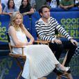 """Chloe Grace Moretz et Jamie Blackley font la promotion de leur nouveau film """"Si je reste"""" sur le plateau de l'émission TV """"Good Morning America"""" à New York le 18 août 2014"""